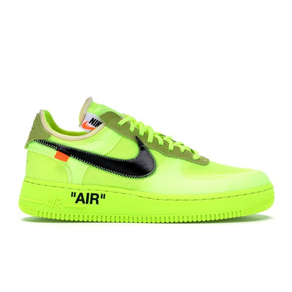 TÊNIS NIKE AIR FORCE 1 OFF-WHITE VOLT