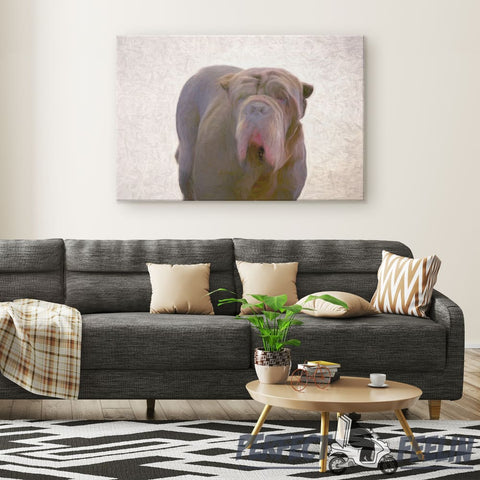 Apollo Big and Cool Dog Canvas Wall Art Q101520 - Made in