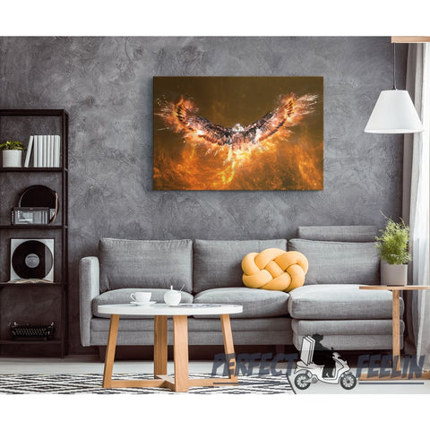 Eagle fire Revival Canvas Wall Art J090720 - Made in Usa