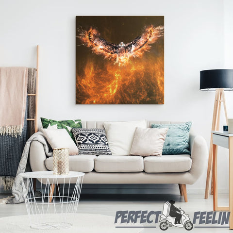 Eagle fire Revival Square Canvas Wall Art J090720 - Made in