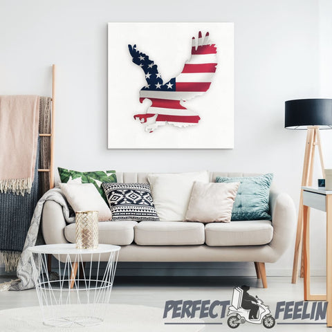 Eagle Flag - Canvas Art 1 K090919 - Made in Usa