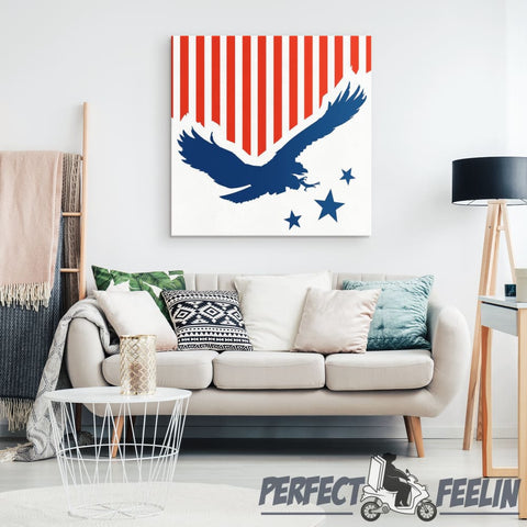 Eagle Flag - Canvas Art 2 K090919 - Made in Usa