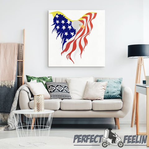 Eagle Flag - Canvas Art K090919 - Made in Usa