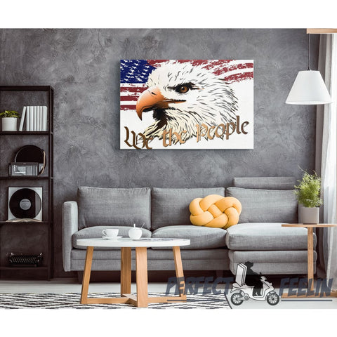 We the People Eagle N Flag - Canvas Art K090919 - Made in