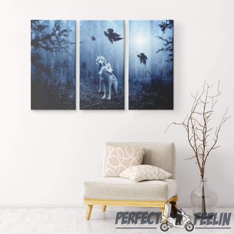 Wolves - Canvas Wall Art Q100120 - Made in Usa