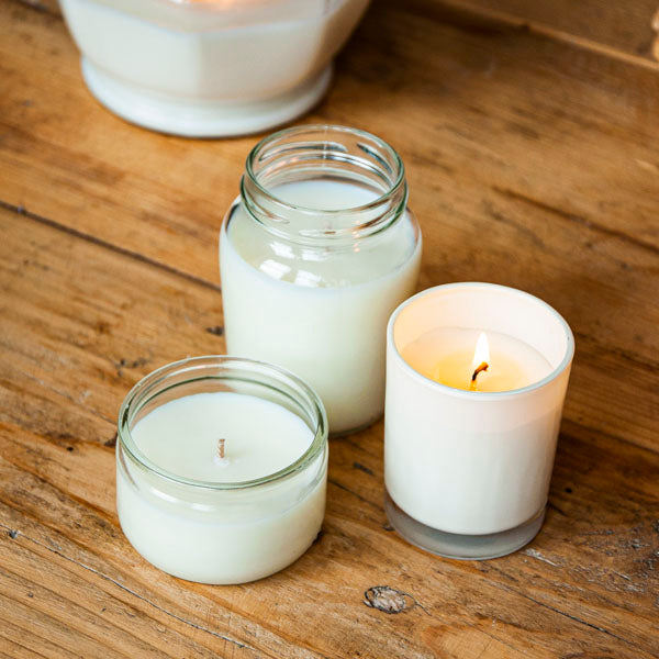 upcycled soy wax aromatherapy candles