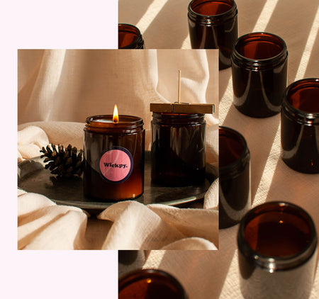 wickpy candles made with candle making upcycle kit