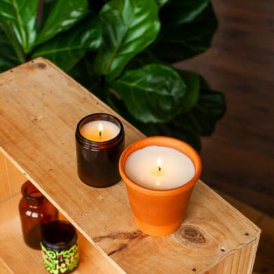 candles made from upcycled jars soy wax and pure essential oils