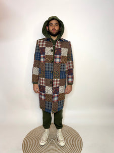 Patchwork overcoat