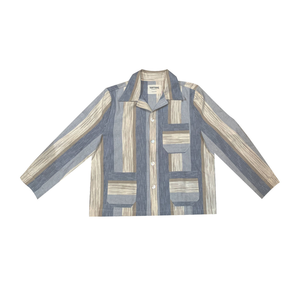 Handwoven Colorblock Overshirt
