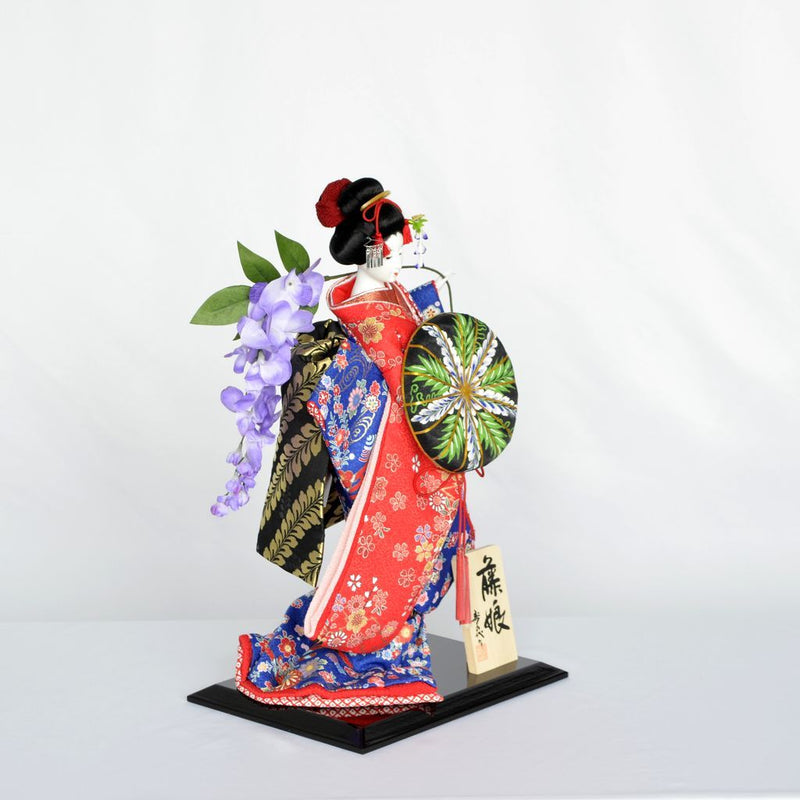 "Japanese Doll  ""Wisteria maiden"" Size10 日本人形 藤娘 10号"