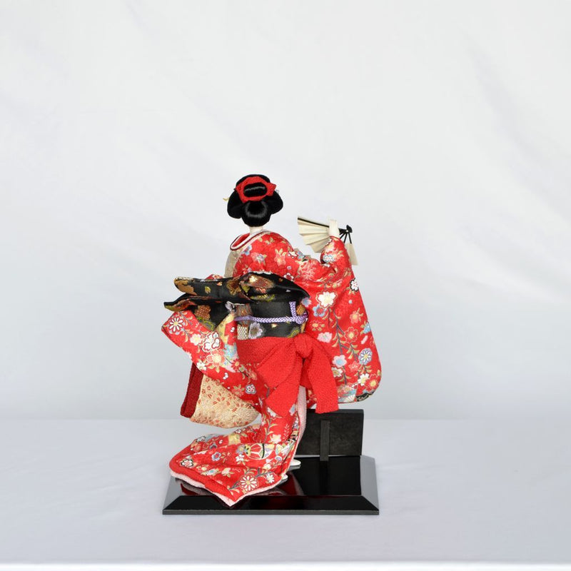 "Japanese Doll  ""Kotobuki (Two fans)"" Size6 日本人形 寿 (扇子2)  6号"