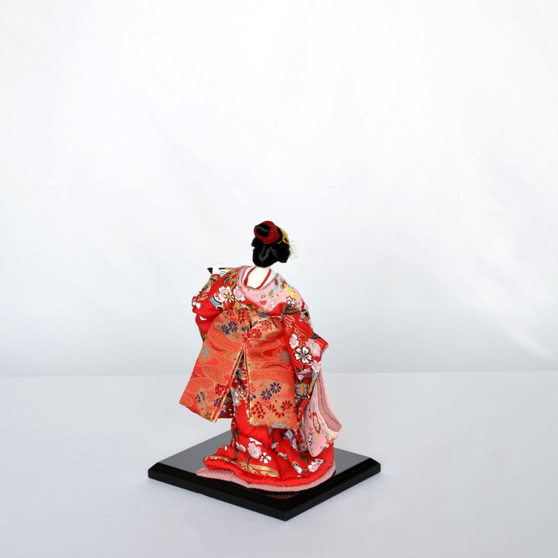 "Japanese Doll  ""Fragrance of flower(Two Fans)"" Size5 日本人形 花の香 (扇子2)  5号"