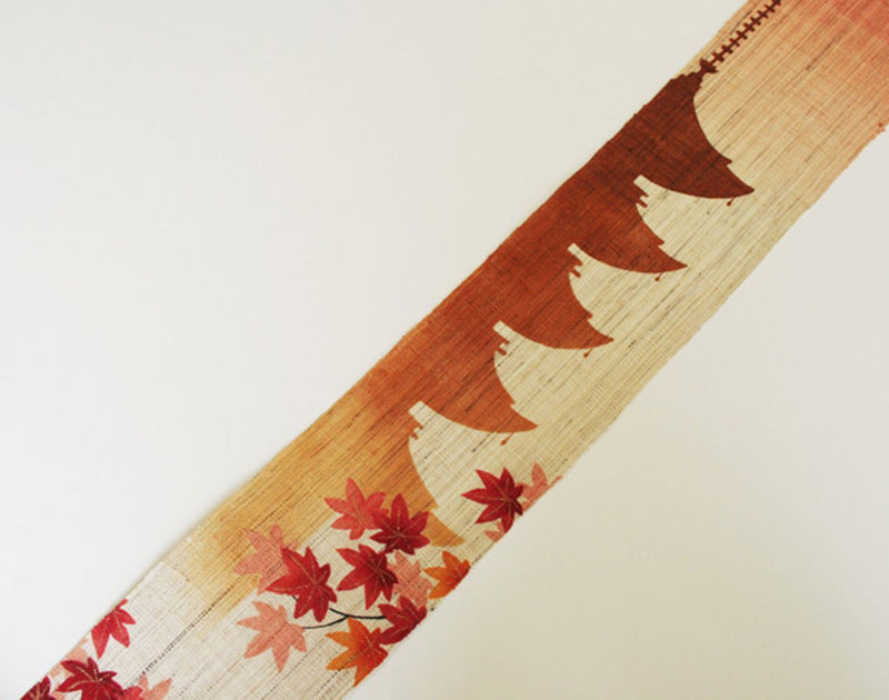 "Narrow Tapestry ""Five Pagoda with Autumn leaves"" 細タペストリー 五重塔・秋"
