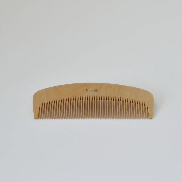 Kimono Accessories  Rubiaceae castello wood comb with Camellia Oil Finish 梳き櫛4.5寸 椿油 2802