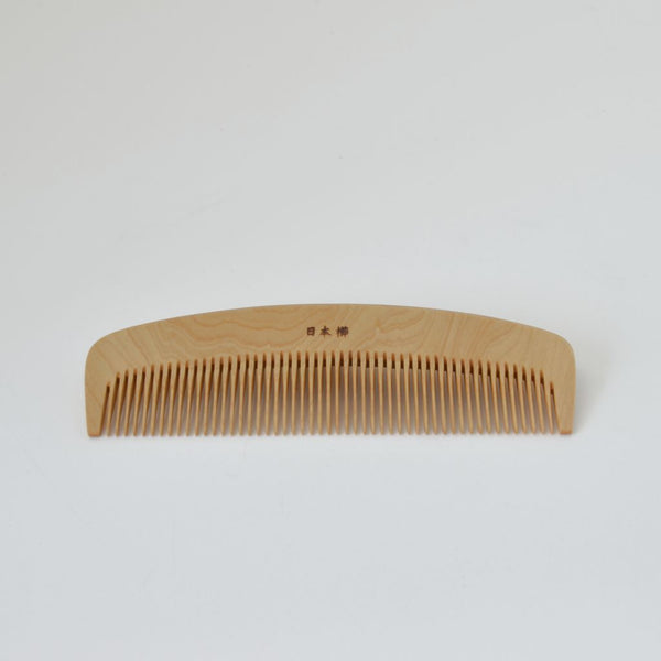 Kimono Accessories Rubiaceae castello wood comb with Camellia Oil Finish 梳き櫛4寸 椿油 2803
