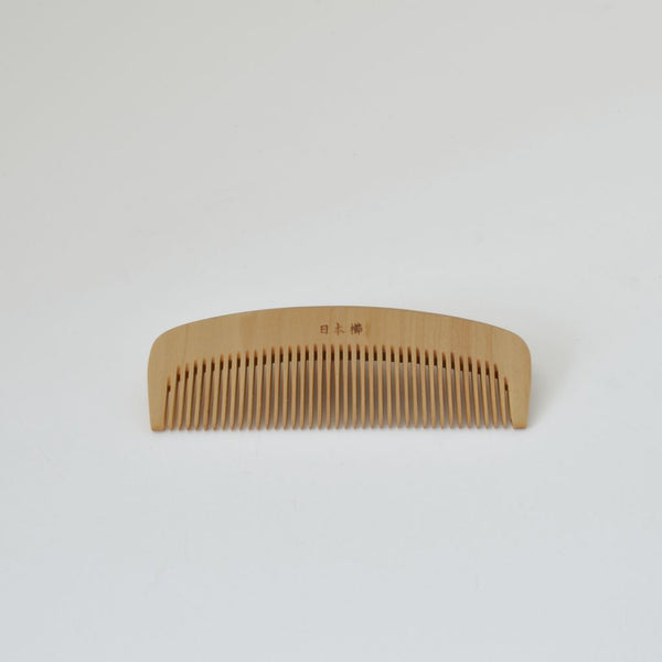 Kimono Accessories Rubiaceae castello wood comb with Camellia Oil Finish 梳き櫛3.5寸 椿油 2804