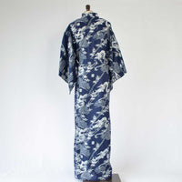 "Yukata Men's Cotton ""Pine Bamboo and Dragon"" 浴衣 男 綿 松竹竜"