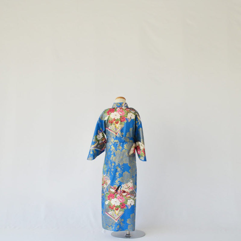 "Kimono Kid's Cotton ""Princess"" Blue 着物 子供 綿 桜姫 青"