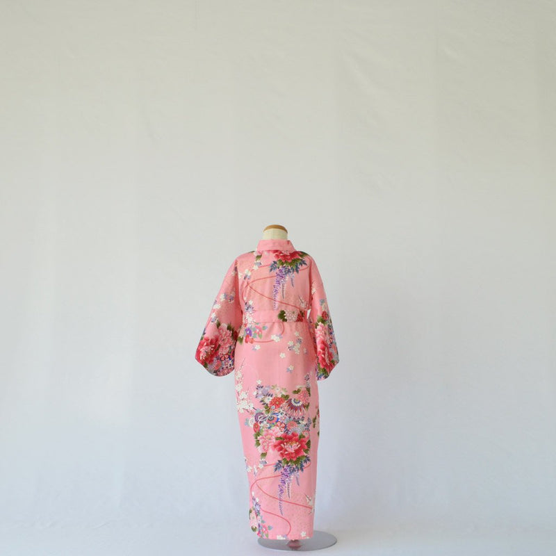 "Kimono Kid's Cotton ""Flower"" Pink 着物 子供 綿 鈴 ピンク"