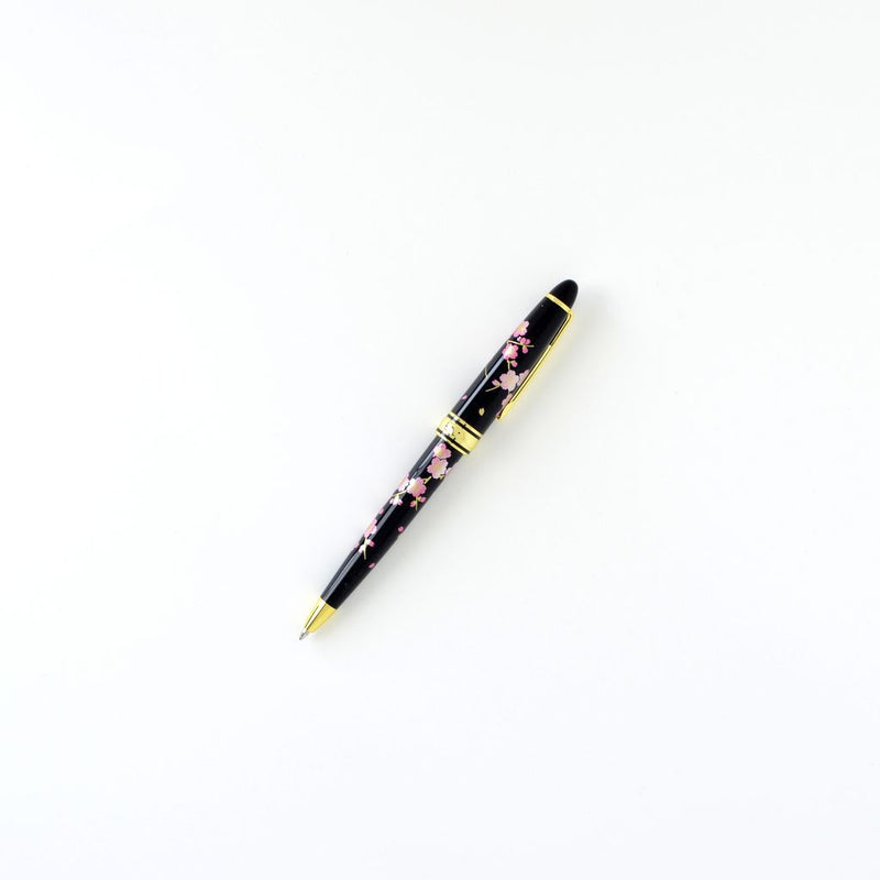 "Stationary Ballpoint Pen ""Cherry Blossom"" 漆芸ボールペン 桜"