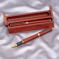 Stationary Ceramic Ballpoint Pen with Case Kyocera KB-40WN セラミックボールペン 京セラ 天然木製ケース付 KB-40WN