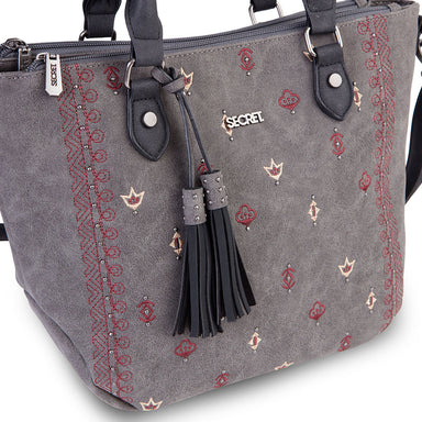 Cartera Samara Satchel Bag Grey M