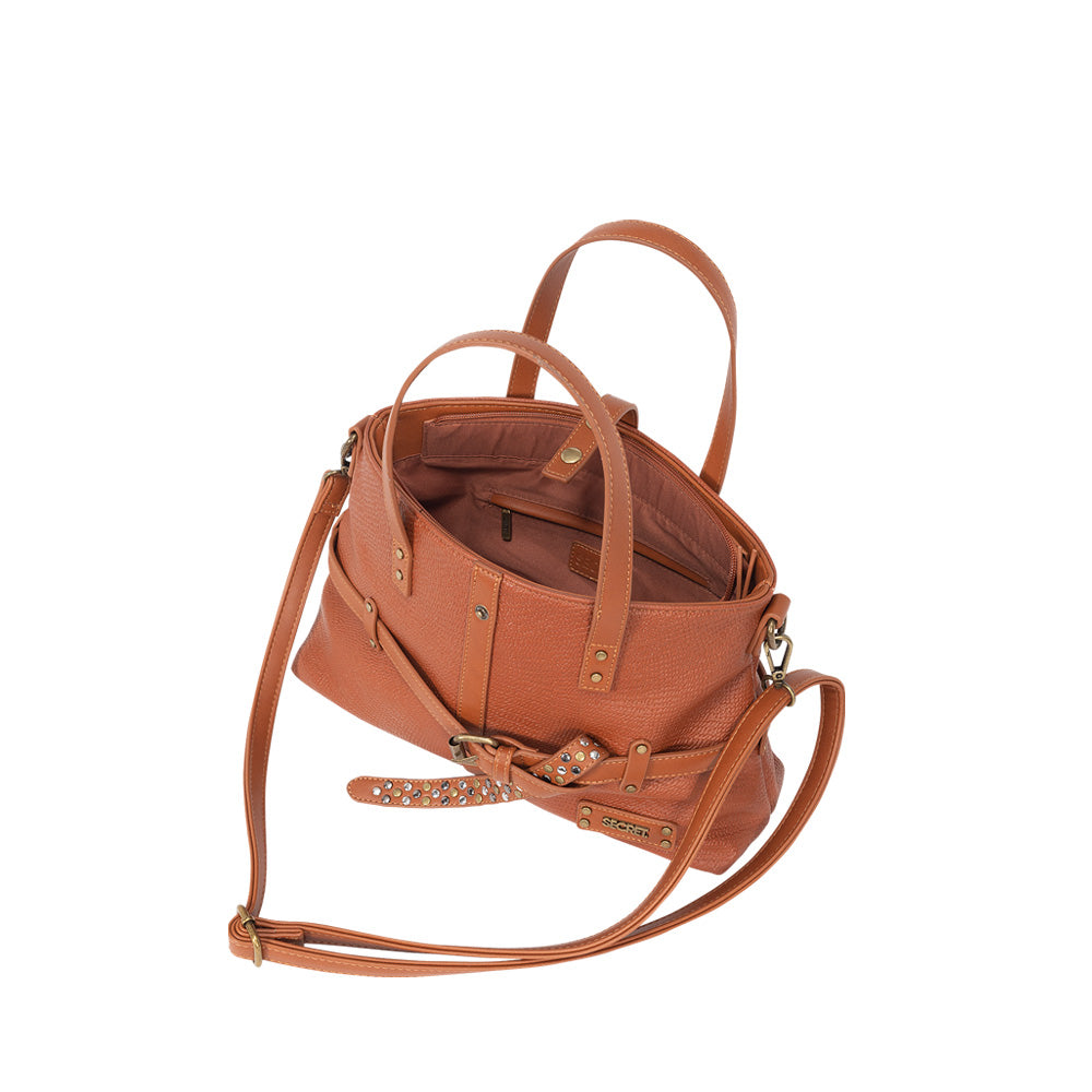 Cartera Pompeya Satchel bag Medium Brown L