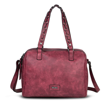 Cartera Belfast Fw20 Satchel Bag Burgundy L