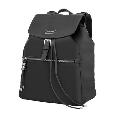 Cartera Karissa Backpack 1 Pocket Black Mediana 2,1 Lts