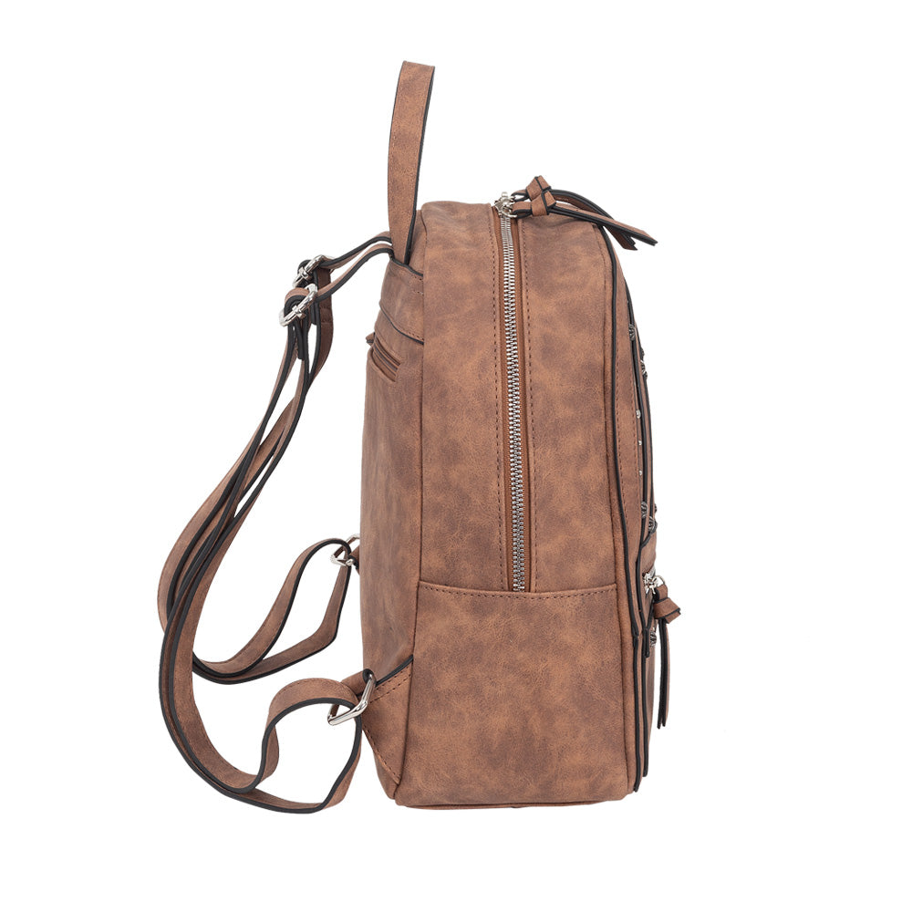 Mochila Positano Backpack Medium Brown L