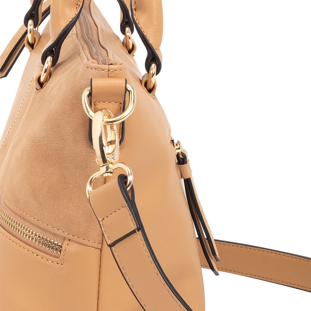Cartera Chequia Satchel bag Toasted L