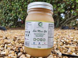 16oz Gold Sea Moss Gel - CGI Green