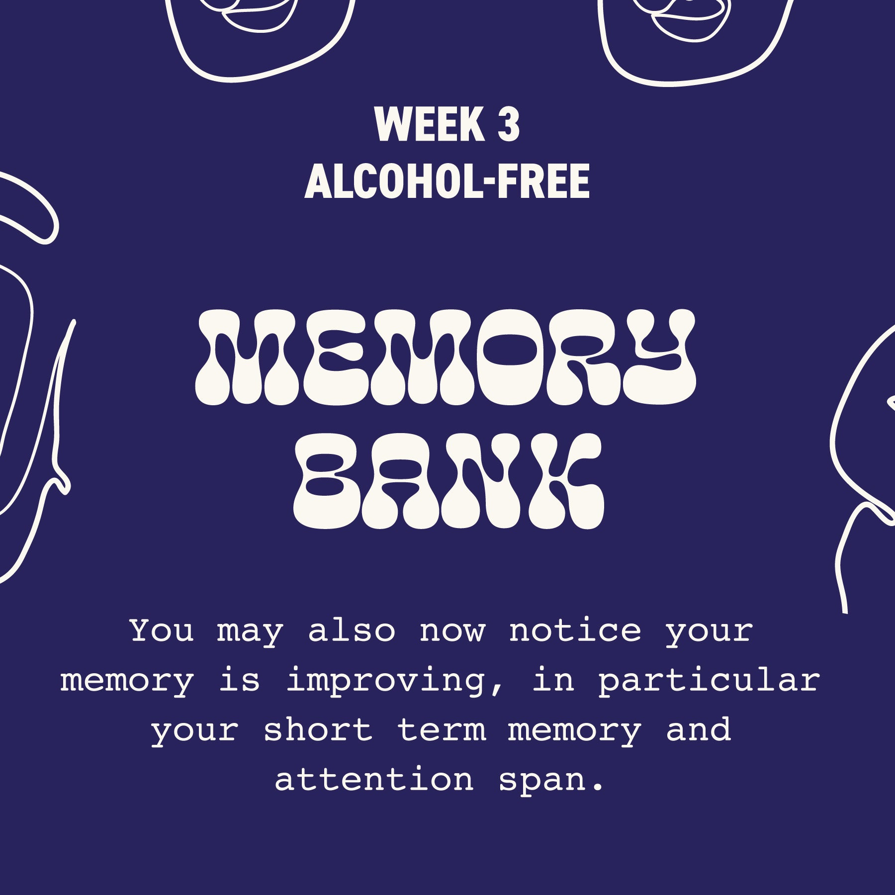 month off drinking benefits
