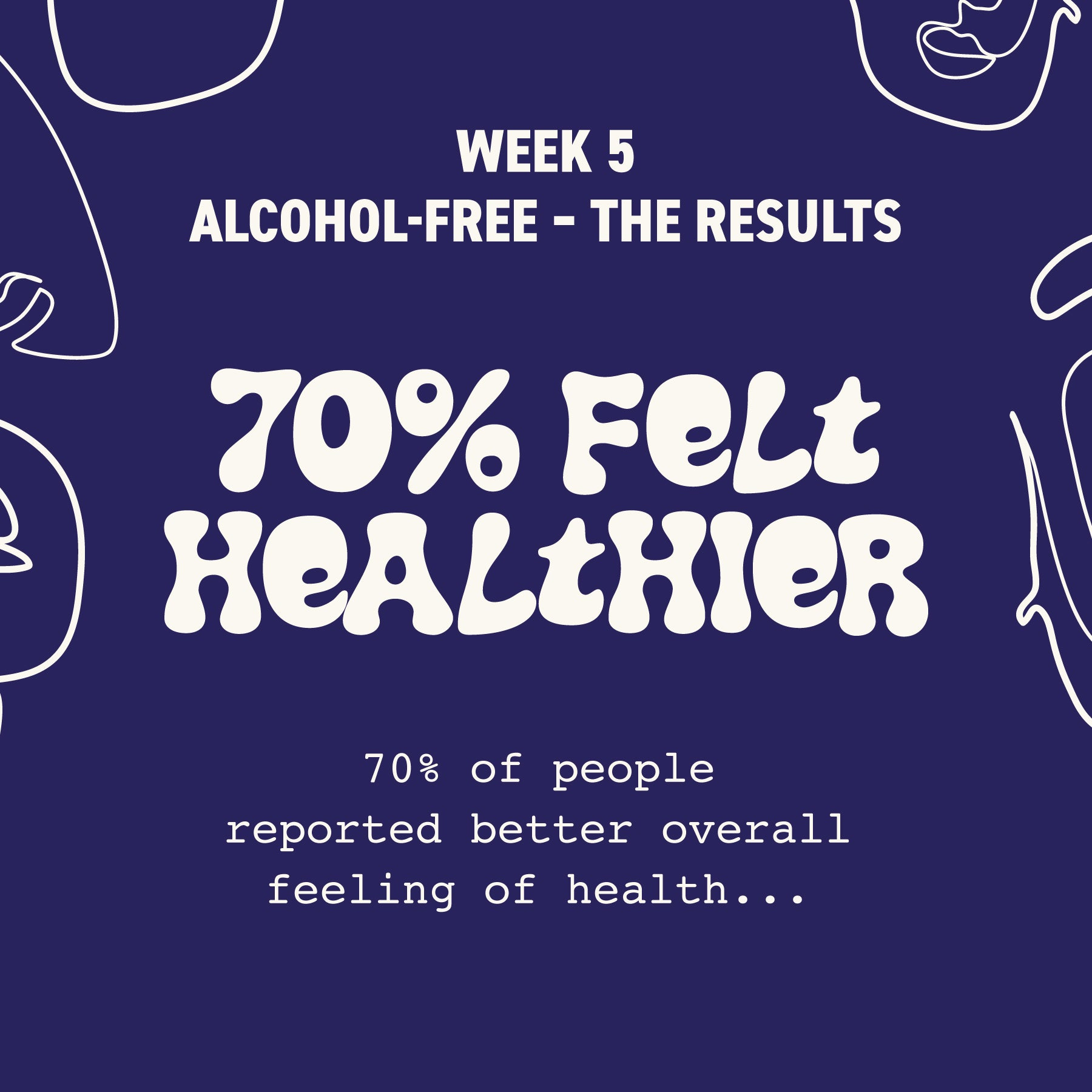 health benefits one month sober