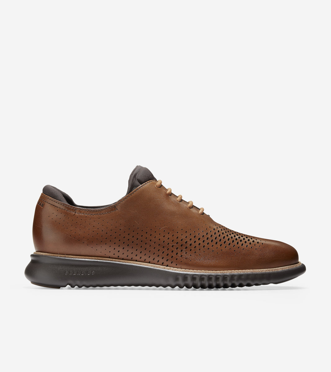 2.ZERØGRAND Lined Laser Wingtip Oxford