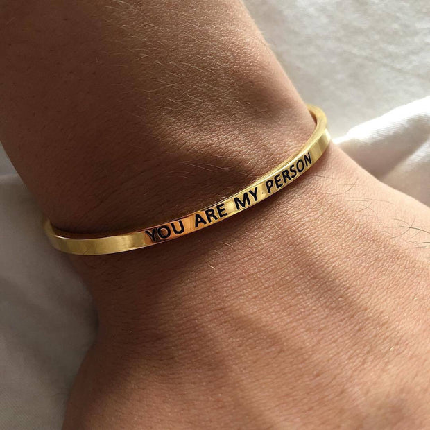 YOU'RE MY PERSON Love Bracelet