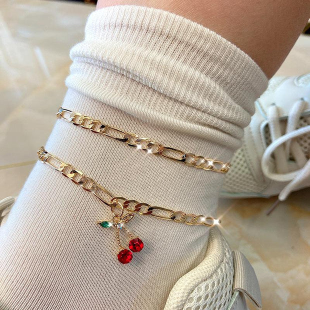 Cherry Anklet Set