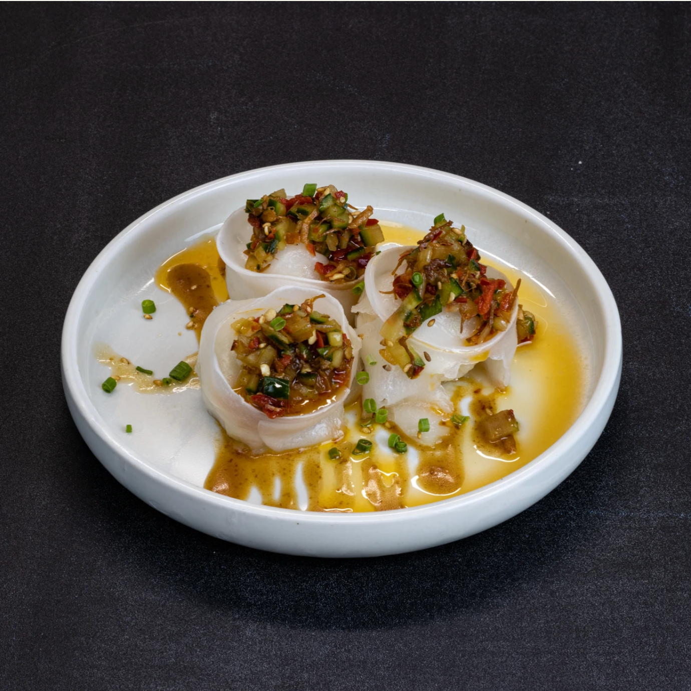 SHARK BAY SCALLOP DUMPLINGS