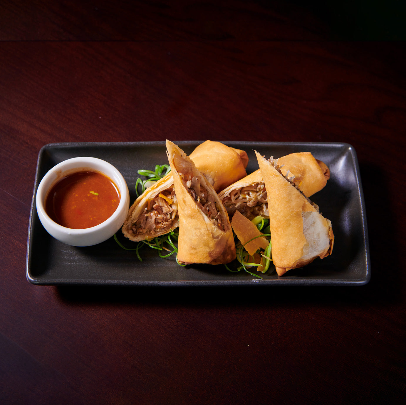 FIVE SPICE PORK SPRING ROLLS