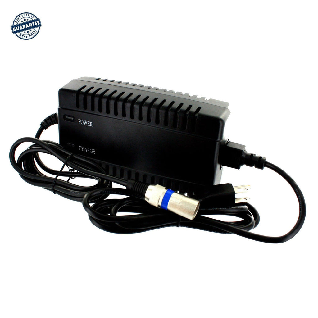 New 24V 4A 96W XLR Electric Scooter Wheelchair Bike Battery Charger