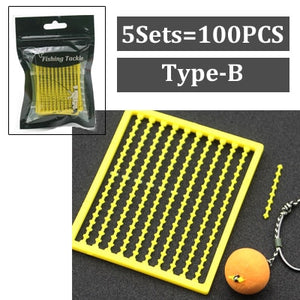 5Set=500PCS Carp Fishing Accessories Micro Bait Stopper Boillies Bait Stop Bead Carp Bait Holder for Hair Rig Tackle Accessories