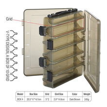 Load image into Gallery viewer, DONQL Fishing Box for Baits Double Sided Plastic Lure Boxes Fly Fishing Tackle Storage Box Supplies Accessories High Strength