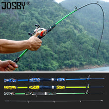 Load image into Gallery viewer, Spinning Casting Hand Lure Fishing Rod Pesca Carbon Pole Canne Carp Fly Gear Reel Seat feeder Ultralight Mini Travel Surf 1.8M