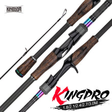 Load image into Gallery viewer, Kingdom KING PRO Fishing Rods two Section have 2pc Top Tip  or Multi-section Feeder rods Spinning and Casting Fishing Travel Rod