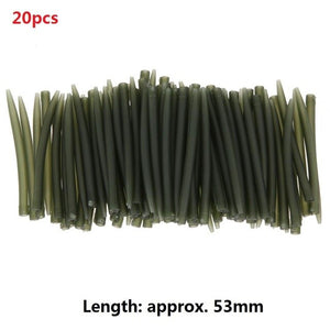 53mm TPR Terminal Anti Tangle Sleeves Connect with Fishing Hooks Carp Fishing Tackle Boxes Pesca Iscas Tools 20pcs 30pcs 40pcs