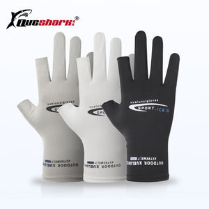 Summer Fishing Gloves SPF 50 Sun Protection Men Quick Dry Hand Gloves Breathable Outdoor Sportswear Gloves Fishing Apparel Pesca