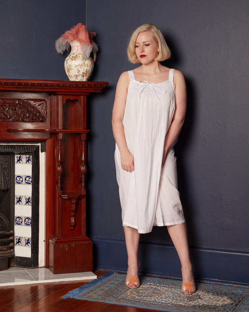 Arabella Cotton Nightie with a Satin Bow