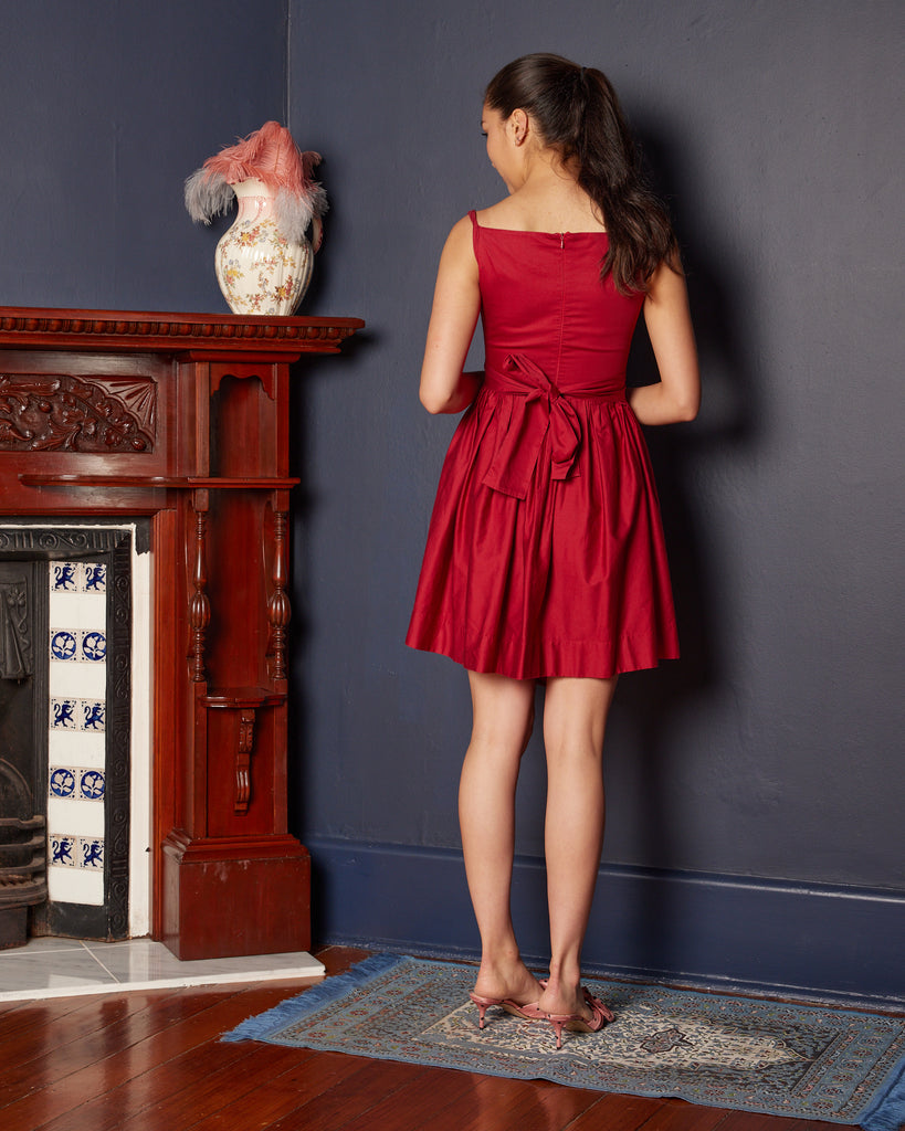 2000s Vivienne Westwood Red Cocktail Frock