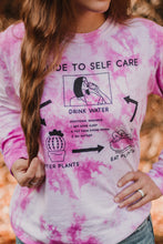 Load image into Gallery viewer, Self Care Tie Dye Long Sleeve Tee